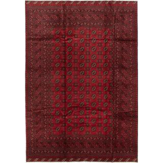 ecarpetgallery Hand-knotted Khal Mohammadi Red Wool Rug (6'7 x 9'5)