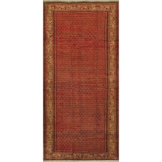 ecarpetgallery Hand-knotted Persian Arak Brown and Yellow Wool Rug (5'2 x 11'1)
