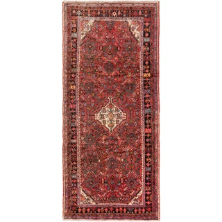 ecarpetgallery Hand-knotted Persian Hosseinabad Brown Wool Rug (5'1 x 11'10)