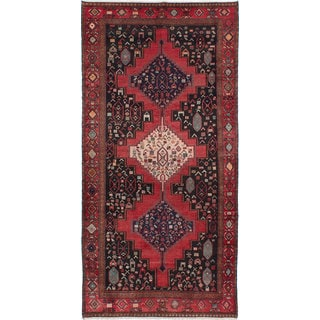 ecarpetgallery Hand-knotted Persian Vintage Blue and Red Wool Rug (4'8 x 9'6)