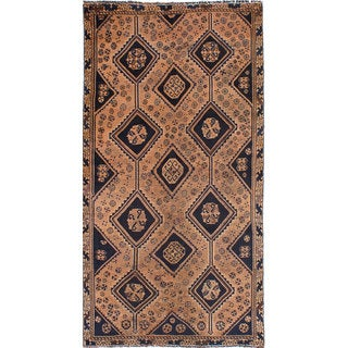 ecarpetgallery Hand-knotted Persian Vintage Beige and Blue Wool Rug (5'1 x 9'11)