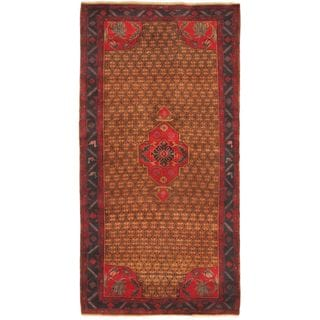 ecarpetgallery Hand-knotted Persian Vogue Blue and Brown Wool Rug (5'3 x 10'2)