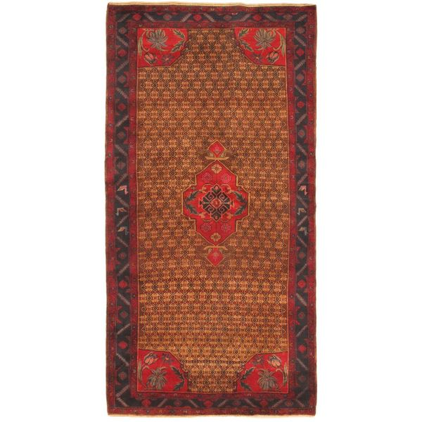 Hand Knotted Persian Wool Area Rug 5 10: Shop Ecarpetgallery Hand-knotted Persian Vogue Blue And