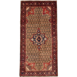 ecarpetgallery Hand-knotted Persian Koliai Brown Wool Rug (5'3 x 10'4)