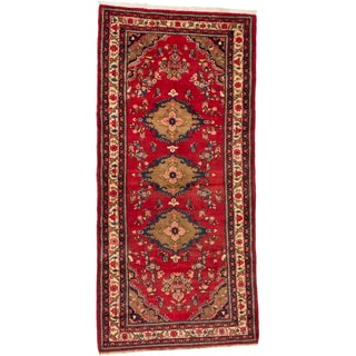 ecarpetgallery Hand-knotted Persian Hamadan Red Wool Rug (5'2 x 10'8)