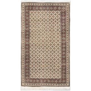 ecarpetgallery Hand-knotted Keisari Vintage Beige Wool Rug (4'1 x 6'10)