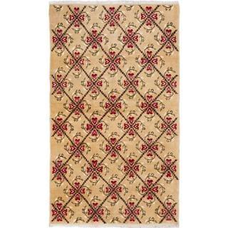 ecarpetgallery Hand-knotted Keisari Vintage Beige Wool Rug (4'11 x 8'5)
