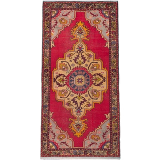 ecarpetgallery Hand-knotted Anadol Vintage Red Wool Rug (4'8 x 9'2)