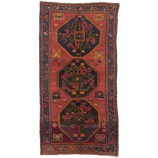 ecarpetgallery Hand-knotted Caucasus Shirvan Red Wool Rug (5'7 x 10'10)