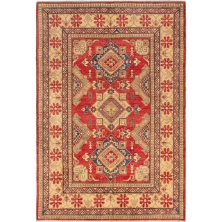 Hand-knotted Finest Gazni Red Wool Rug - 7'2 x 10'5