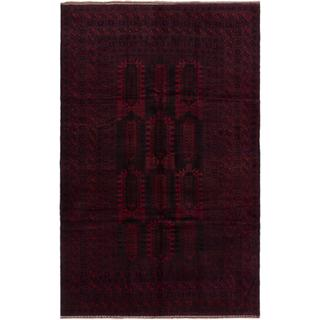 ecarpetgallery Hand-knotted Finest Rizbaft Brown and Red Wool Rug (6'7 x 10'3)