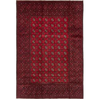 ecarpetgallery Hand-knotted Khal Mohammadi Red Wool Rug (6'8 x 9'6)