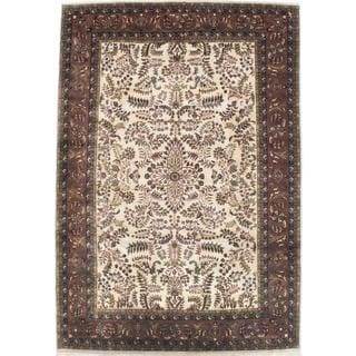 ecarpetgallery Hand-knotted Sultanabad Beige Wool Rug (8' x 11'5)