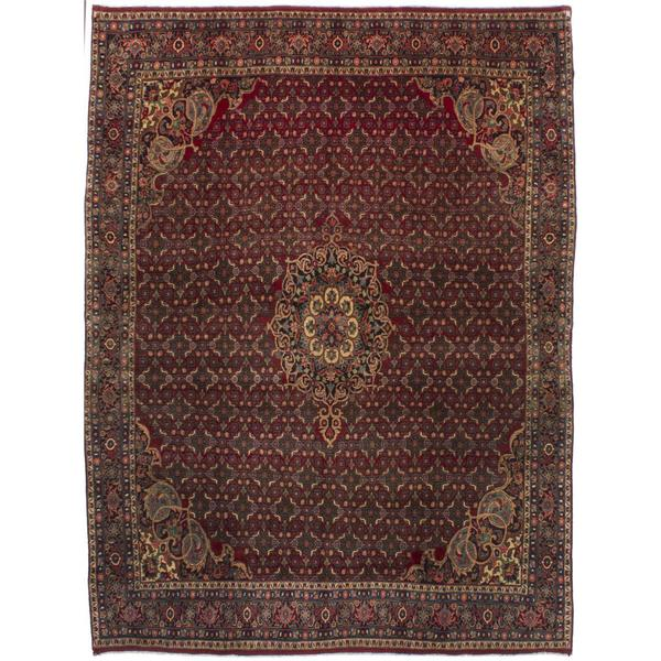 Shop Ecarpetgallery Hand Knotted Persian Kashan Red Wool: Shop Ecarpetgallery Hand-knotted Persian Bijar Red Wool