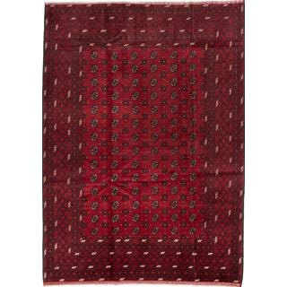 ecarpetgallery Hand-knotted Khal Mohammadi Red Wool Rug (6'9 x 9'5)