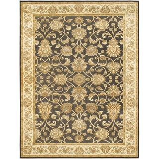 ecarpetgallery Babylon Garden Beige and Black Viscose Rug (7'9 x 10'4)