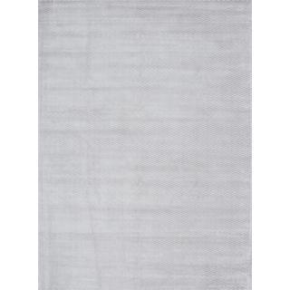 ecarpetgallery Handmade Reflections Grey Art Silk Rug (8' x 11')