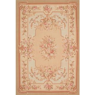 ecarpetgallery Handmade French Tapestry Beige Wool Sumak Rug (6'6 x 10')