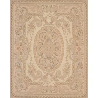 ecarpetgallery Handmade French Tapestry Beige Wool Sumak Rug (8' x 10')