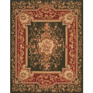 ecarpetgallery Handmade French Tapestry Green Wool Sumak Rug (8' x 10')