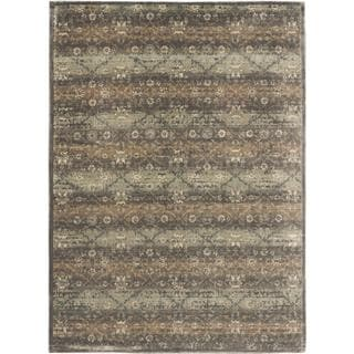 ecarpetgallery Lamis Beige and Grey Viscose Rug (7'7 x 10'5)