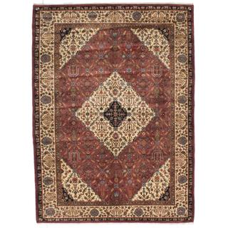 ecarpetgallery Hand-knotted Darshana Finest Brown Wool Rug (7'9 x 10'6)