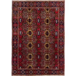 ecarpetgallery Hand-knotted Persian Bakhtiar Blue and Red Wool Rug (7'9 x 10'11)