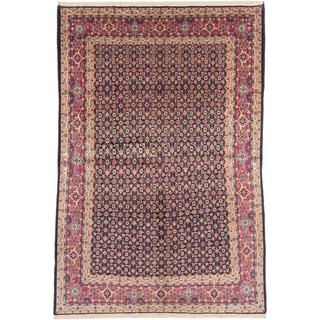 ecarpetgallery Hand-knotted Persian Sarough Blue Wool Rug (7' x 10'1)