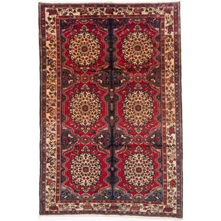 ecarpetgallery Hand-knotted Persian Bakhtiar Red Wool Rug (7'3 x 10'9)