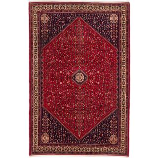 ecarpetgallery Hand-knotted Persian Abadeh Red Wool Rug (6'9 x 10'3)