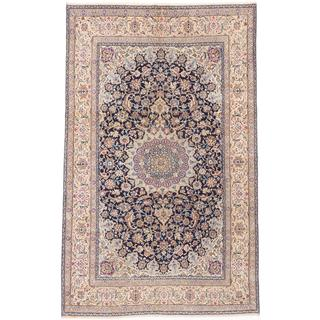 "ecarpetgallery Hand-knotted Persian Nain 9LA Blue Wool Silk Rug (6' 2"" x 10' 3"")"