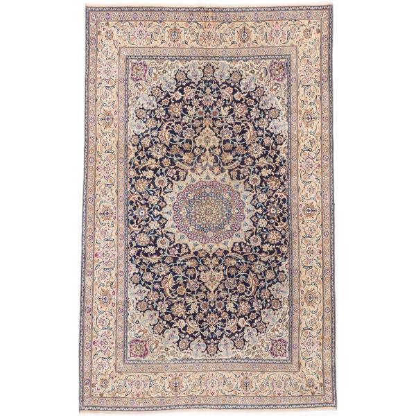 Persian Hand Knotted Nain Wool And Silk Area Rug Ebth: Shop Ecarpetgallery Hand-knotted Persian Nain 9LA Blue