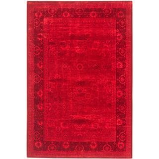ecarpetgallery Majorca Red Viscose Rug (8' x 11')