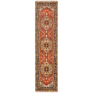 ecarpetgallery Hand-knotted Serapi Heritage Brown Wool Rug (2'7 x 10'3)
