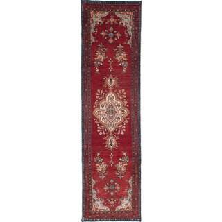 ecarpetgallery Hand-knotted Persian Asadabad Orange Wool Rug (2'7 x 9'9)