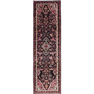 ecarpetgallery Hand-knotted Persian Roodbar Black Wool Rug (2'9 x 10'2)