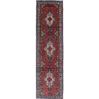 ecarpetgallery Hand-knotted Persian Roodbar Brown Wool Rug (2'6 x 9'5)