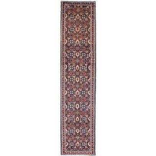 ecarpetgallery Hand-knotted Persian Roodbar Blue Wool Rug (2'4 x 10'5)