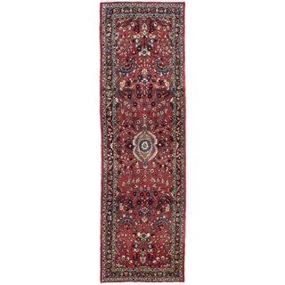 ecarpetgallery Hand-knotted Persian Roodbar Orange Wool Rug (2'8 x 9')
