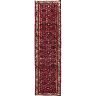 ecarpetgallery Hand-knotted Persian Hosseinabad Red Wool Rug (2'6 x 9'5)