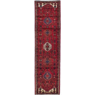 ecarpetgallery Hand-knotted Persian Asadabad Red Wool Rug (2'8 x 9'9)