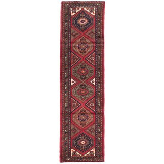 ecarpetgallery Hand-knotted Persian Asadabad Red Wool Rug (2'5 x 9'4)