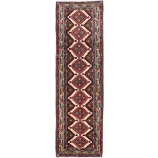 ecarpetgallery Hand-knotted Persian Koliai Beige and Brown Wool Rug (2'11 x 10')