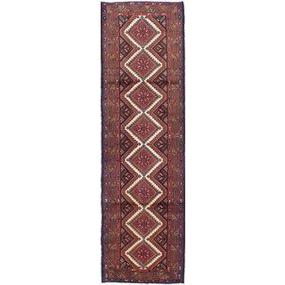 ecarpetgallery Hand-knotted Persian Koliai Beige and Blue Wool Rug (2'9 x 9'7)