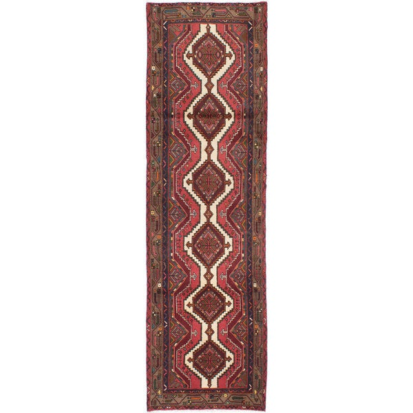 ecarpetgallery Hand-knotted Persian Koliai Red Wool Rug (2'10 x 9'6) - 2'10 x 9'6