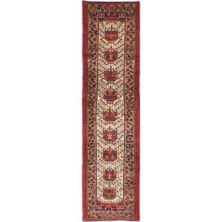 ecarpetgallery Hand-knotted Persian Asadabad Beige and Red Wool Rug (2'5 x 9'10)