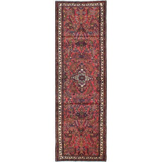ecarpetgallery Hand-knotted Persian Lilihan Red Wool Rug (2'11 x 9'11)