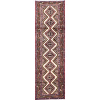 ecarpetgallery Hand-knotted Persian Koliai Beige and Brown Wool Rug (2'9 x 9'3)