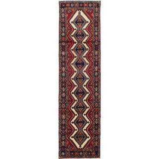 ecarpetgallery Hand-knotted Persian Koliai Beige and Red Wool Rug (2'5 x 9'4)