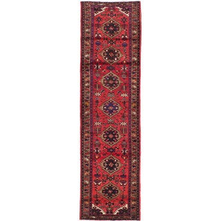 ecarpetgallery Hand-knotted Persian Gharajeh Red Wool Rug (2'8 x 10'1)
